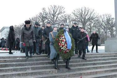 День снятия блокады Ленинграда. Пискаревское кладбище