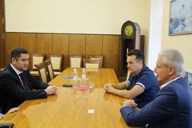 Встреча с председателем Псковского областного Собрания депутатов А. Котовым