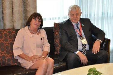 Встреча с руководителем Миссии наблюдателей от ПА СЕ Гизелой Вурм