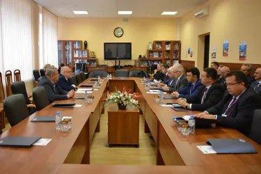 Встреча с председателем Избирательной комиссии Ленинградской области Владимиром Журавлевым