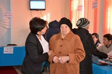 Голосование Президента Кыргызской Республики Алмазбека Атамбаева