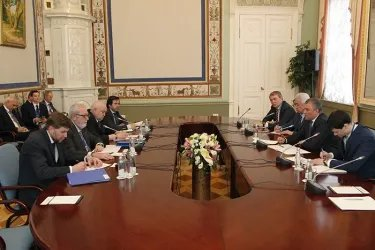 Встреча Вячеслава Володина с Председателем ПА СЕ Педро Аграмунтом