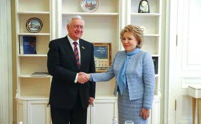 Встреча Валентины Матвиенко и Михаила Мясниковича