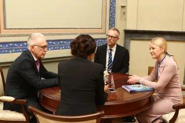 Встреча с Генеральным советником Европейского банка реконструкции и развития Мари-Анн Биркен