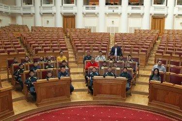 Сборная РСДЮШОР из Бишкека под руководством тренера Тимура Кыдыралиева в гостях у МПА СНГ