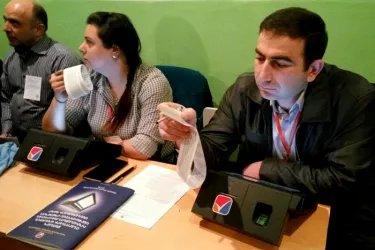 Наблюдатели от МПА СНГ на процедуре подсчета голосов на одном из избирательных участков