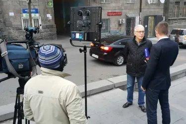 Алексей Сергеев отвечает на вопросы журналистов телеканала «Россия 24»