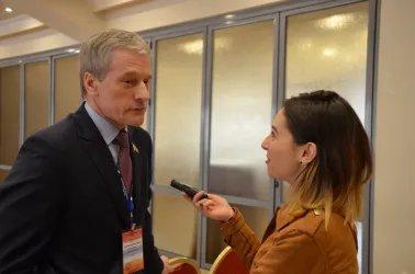 Болеслав Пирштук ответил на вопросы журналистов телеканала «Россия 24»