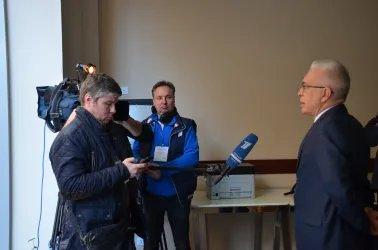 Алексей Сергеев ответил на вопросы журналистов Первого канала