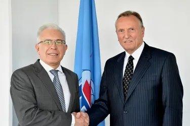 Встреча с заместителем Генерального секретаря Международного союза электросвязи Малколмом Джонсоном