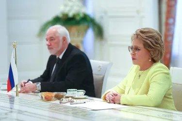 Встреча Валентины Матвиенко с Президентом Туркменистана Гурбангулы Бердымухамедовым