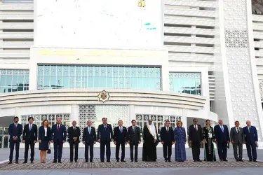 Церемония открытия V Азиатских игр в закрытых помещениях и по боевым искусствам в Ашхабаде