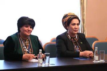 Встреча Алексея Сергеева с Председателем Меджлиса Туркменистана Акджой Нурбердыевой