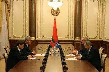 Встреча с Председателем Палаты представителей Национального Собрания Республики Беларусь Владимиром Андрейченко