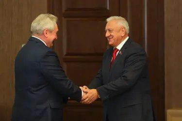 Встреча с Председателем Совета Республики Национального собрания Республики Беларусь Михаилом Мясниковичем