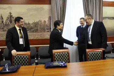 Встреча наблюдателей от МПА СНГ с Владимиром Любарским и Алексеем Бахилиным