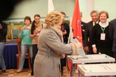 Голосование Председателя Совета МПА СНГ в Санкт-Петербурге