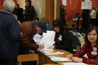 Открытие избирательных участков в Санкт-Петербурге