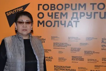 Асель Кодуранова в эфире радиостанции Sputnik
