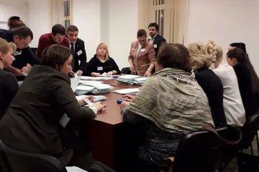 Наблюдение за процедурой подсчета голосов в Кишиневе