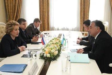 Встреча Валентины Матвиенко с Борием Алихановым