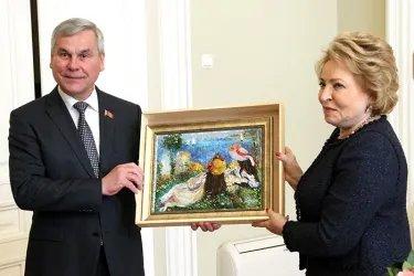 Встреча Валентины Матвиенко с Владимиром Андрейченко