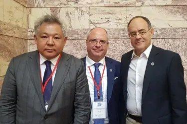 Асхат Нускабай с Сергеем Гавриловым и Андреасом Михаилидисом