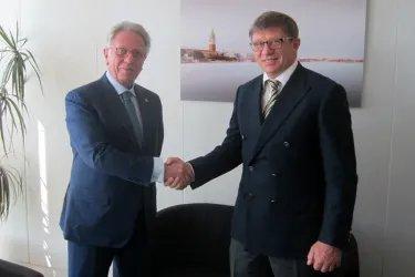 Юрий Осипов встретился с Председателем Венецианской комиссии Джанни Букиккио