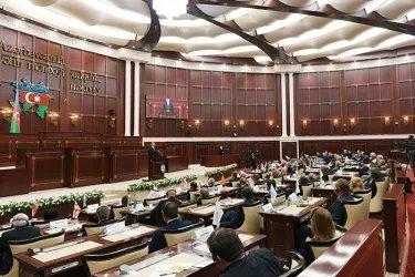 Торжественное пленарное заседание Милли Меджлиса Азербайджанской Республики по случаю 100-летия Парламента Азербайджана