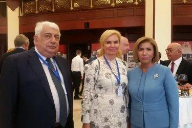 Заместитель Председателя Милли Меджлиса Азербайджанской Республики Бахар А. Мурадова и делегация МПА СНГ