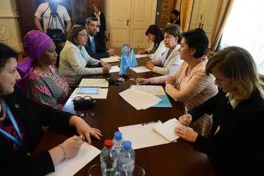 Встреча делегации Республики Казахстан с Фумзиле Мламбо-Нгкуга
