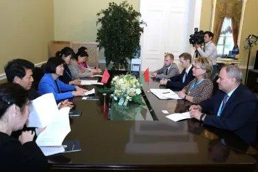 Встреча делегаций Республики Беларусь с делегацией КНР