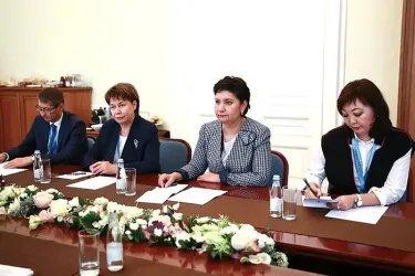 Встреча делегации Республики Казахстан с Галиной Кареловой