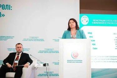 Выступление секретаря ЦИК Российской Федерации  М. Гришиной с презентацией программы «Мобильный избиратель»