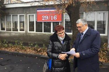 Татьяна Кусайко на избирательном участке, 09.12.18