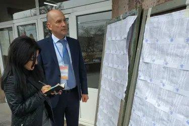 Владимир Иову на избирательном участке, 09.12.18