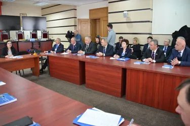 Встреча международных наблюдателей от МПА СНГ в ЦИК с Алиной Руссу, 23.02.19