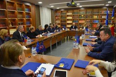 Встреча международных наблюдателей от МПА СНГ с Демократической партией, 23.02.19