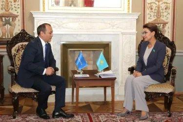 Встреча Дариги Назарбаевой с Алтынбеком Мамаюсуповым