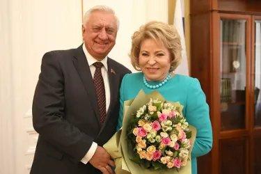 Встреча Валентины Матвиенко с Михаилом Мясниковичем