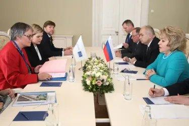 Встреча Валентины Матвиенко с Лилиан Мори Паскье