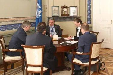 Встреча Дмитрия Кобицкого с Серджо Пьяцци