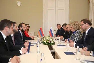 Встреча Валентины Матвиенко с Араратом Мирзояном