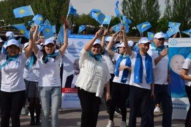 Акция студентов, организованная штабом Федерации профсоюзов