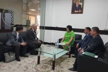 Встреча с заместителем акима города Шымкент Гульжан Курманбековой