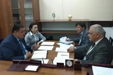 Встреча с председателем территориальной избирательной комиссии города Шымкент Ерланом Дауылбаевым