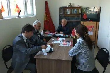 Наблюдатели от МПА СНГ в штабе Коммунистической народной партии Казахстана