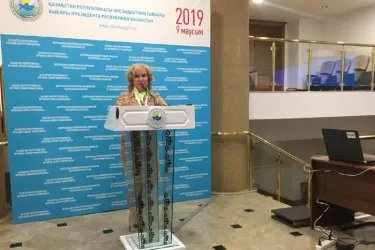 Екатерина Голоулина ответила на вопросы журналистов по итогам встречи в ЦИК Республики Казахстан