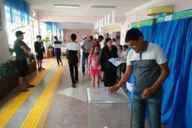 Наблюдатели от МПА СНГ на избирательном участке в Жамбылской области