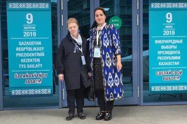 Елена Мизулина и Саёхат Дададжонова посетили избирательные участки в Республике Казахстан